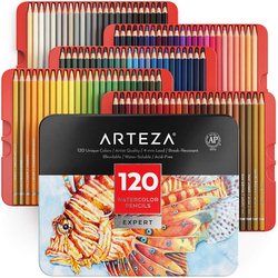 ARTEZA Expert Watercolor Pencils - akvarelové pastelky - sada 120 ks