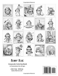 Benny Blue Grayscale Coloring Book - Christine Karron