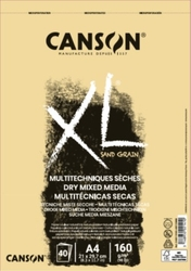 CANSON XL Mixed Media DRY - NATURAL - 160 g/m2, 40 listů - 2 rozměry