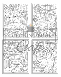 Cats & Kittens Coloring Book - Coloring Book Cafe