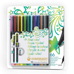 Chameleon Fineliner Changing colors - tónovací linery - sada 12 ks - BRIGHT TONES