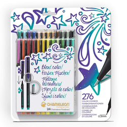 Chameleon Fineliner Changing colors - tónovací linery - sada 24 ks - BOLD TONES