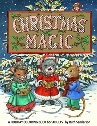 Christmas Magic - Ruth Sanderson - Greyscale