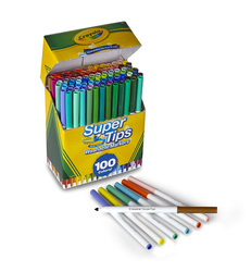 Crayola Supertips Washable Markers - sada fixů 100 ks