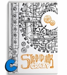 Crazy Drawings - CRAZY STEAMPUNK - colouring book