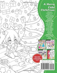 The Cute Chibi Christmas Coloring book - Christopher Hart