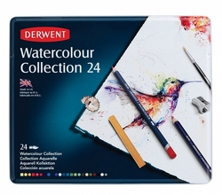 DERWENT Watercolour Collection - sada akvarelu - 24 ks