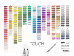 TOUCH Twin Brush Marker - oboustranný fix - ShinHan Art - sada 6 ks - MAIN COLORS