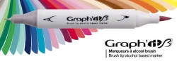 Graph'it Twin Brush Marker - oboustranný fix - sada 36 ks - Essential