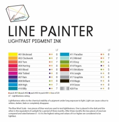 Derwent Graphik Line Painter ALL 20 - rozmývatelné linery - sada 20 ks