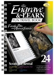 Engrave & Learn Fun Travel Book - FAMILY PETS and ANIMAL FRIENDS - vyškrabávání