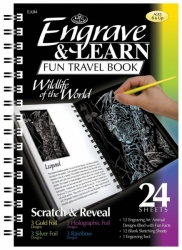 Engrave & Learn Fun Travel Book - WILDLIFE of the WORLD - vyškrabávání