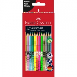 Faber-Castell Colour Grip 2001 PASTEL + NEON + METALLIC - sada 12 ks