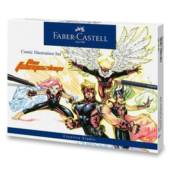 Faber-Castell CREATIVE STUDIO Comic Illustration Set - sada 15 ks