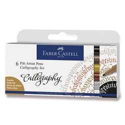 Faber-Castell Pitt Artist pens - CALLIGRAPHY - Indian ink - sada 6 ks