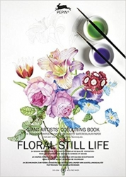 Floral Stil Life - Giant artists´ colouring book - Pepin van Roojen