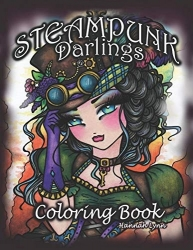 Steampunk Darlings Coloring Book - Hannah Lynn