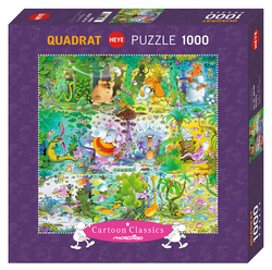 HEYE PUZZLE Quadrat - Cartoon Classics WILDLIFE - 1000 dílků - čtverec