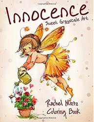 Innocence - Sweet Grayscale Art Coloring Book - Rachel Mintz