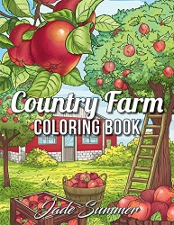 Country Farm Coloring Book - Jade Summer
