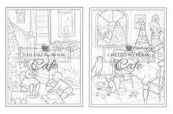 Little Christmas Town - Coloring Book Cafe