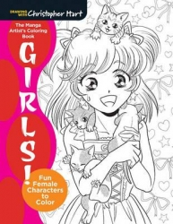 Mighty Coloring Book Of Manga Girls - Christopher Hart