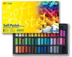 Mungyo Soft Pastel for artists - měkké mini křídy - 48 ks