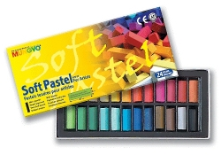 Mungyo Soft Pastel for artists - měkké mini křídy - 24 ks