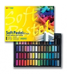 Mungyo Soft Pastel for artists - měkké mini křídy - 64 ks