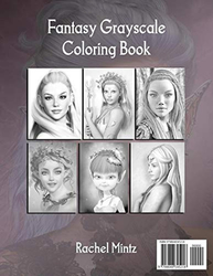 Gorgeous Fairies Fantasy Grayscale Coloring Book - Rachel Mintz