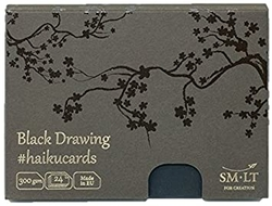 SM-LT Art HAIKUCARDS Black Drawing - haiku karty černé 300 g/m2 - 24 listů