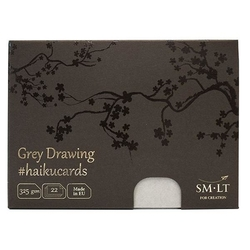 SM-LT Art HAIKUCARDS GREY Drawing - haiku karty šedé 325 g/m2 - 22 listů
