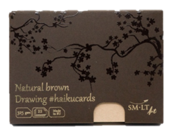 SM-LT Art HAIKUCARDS Natural Brown - haiku karty hnědé 325 g/m2 - 22 listů