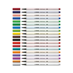 Stabilo Pen 68 brush - fix 1 mm - 24 barev