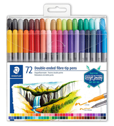STAEDTLER Design Journey Twin-tip pen - oboustranné fixy - sada 72 ks