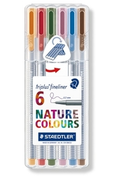 STAEDTLER Triplus 334 - linery 6 barev - NATURE BOX
