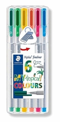 STAEDTLER Triplus 334 - linery 6 barev - TROPICAL BOX