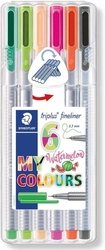 STAEDTLER Triplus 334 - linery 6 barev - WATERMELON BOX
