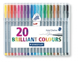 STAEDTLER Triplus 334 - linery 20 barev - BOX