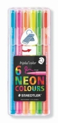 STAEDTLER Triplus Color 323 NEON - fixy 1mm 6 barev