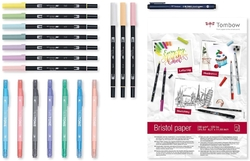 Tombow HAVE FUN Home set - PASTELS - pastelová sada na doma - 19 ks