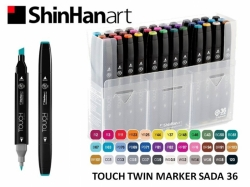 TOUCH Twin Marker PEVNÝ - oboustranný fix - ShinHan Art - sada 36 ks
