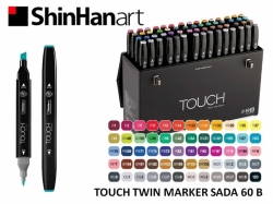 TOUCH Twin Marker - oboustranný fix - ShinHan Art - sada 60 B