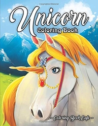 Unicorn Coloring Book - Coloring Book Cafe