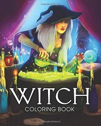 WITCH Coloring book - ČARODĚJNICE