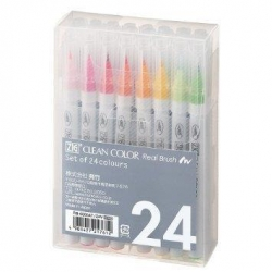 ZIG Kuretake Clean Color Real Brush Pen - sada 24 ks