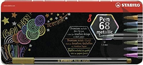 Stabilo Pen 68 METALLIC - sada 8 KS