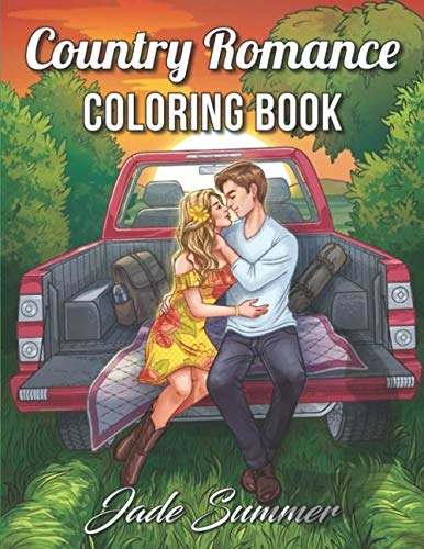Country Romance Coloring Book - Jade Summer