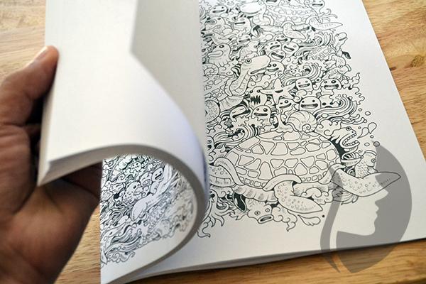 Zifflins Coloring Book Doodle Invasion Zifflins Coloring Book