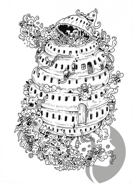 Zifflins Coloring Book Doodle Invasion Zifflins Coloring